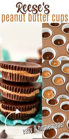 Skip the packaged candy and make Peanut Butter Cups at home! Easy Homemade Reese's have all the irresistible taste of the original, without any of the preservatives.
