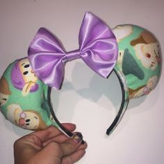 This listing is for one made-to-order beautiful happy Miner Mouse Ears headband! This is perfect for anyone who loves to whistle while they