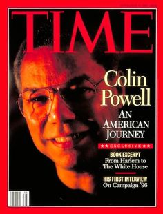 TIME Magazine Cover: Colin Powell -- Sep. 18, 1995 Time Magazine, Magazine Art, Facts About People, Duluth Minnesota, Black Magazine, African American History, Esquire, Vanity Fair, Rolling Stones