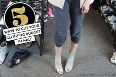 Whether due to financial constraints or you just can't indulge in shopping because the stores are closed, here are 5 ways to cut down on your clothing budget (and consumption!) during this time.  #clothing #shopping #budgeting #budgettips #budgethack