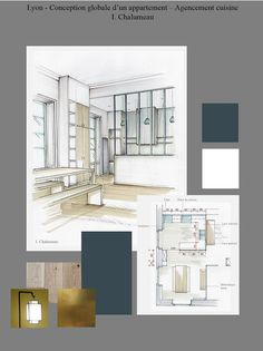 Design interior drawing perspective ideas for 2019 Interior Architecture Drawing, Drawing Interior, Architecture Plan, Architecture Restaurant, Interior Design Portfolios, Interior Design Sketches, Interior Design Boards, Layout Design, Design De Configuration