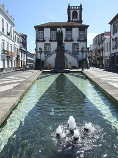 ponta delgada - the azores - city hall Azores Portugal, Visit Portugal, Portugal Travel, Spain And Portugal, Town Hall, The Beautiful Country, Beautiful Places, Sao Miguel Azores, Great Places