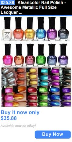 Nails: Kleancolor Nail Polish - Awesome Metallic Full Size Lacquer Lot Of 12-Pc Set / BUY IT NOW ONLY: $35.88