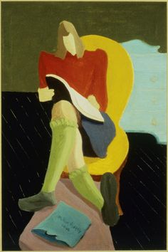 Homework (1946) – Milton Avery