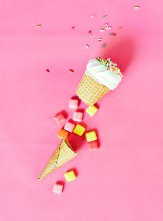 Pinata Ice Cream Cone Cookies | Stevie Pattyn for The Sweet Lulu Blog