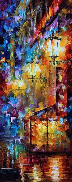 0317  Light Of Night Print by Leonid Afremov