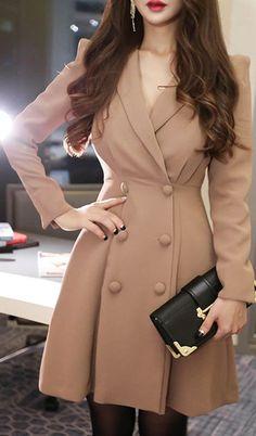 Women's coats – High Fashion For Women Blazer Jackets For Women, Coats For Women, Clothes For Women, Winter Coat Outfits, Winter Fashion Outfits, Long Blazer Jacket, Spring Jackets, Spring Coats, Double Breasted
