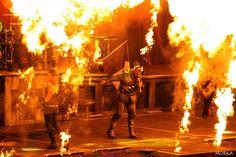 Rammstein, 2012-03-07 (Bercy, Paris, France).  #concert #live #fire http://www.morka.fr