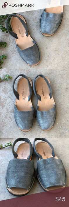 Jeffrey Campbell Anthropologie Silver Glitter Flat Slingback sparkly silver flats by Jeffrey Campbell, purchased at Anthropologie. Size EU 38/US 8. Gently worn with fading at the insole but not flaws to note. Tons of life left! Jeffrey Campbell Shoes Flats & Loafers