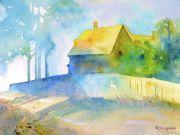 Monhegan Island Paintings - Monhegan Island Morning by Jo Lynch