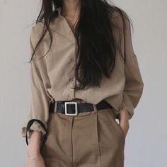 A look, fashion Korean Outfits, Mode Outfits, Casual Outfits, Fashion Outfits, Womens Fashion, Fashion Hacks, Fashion Ideas, 40s Mode, Paris Mode