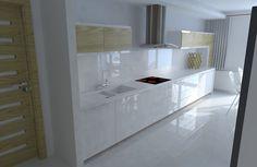 White kitchen, modern design.