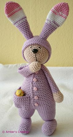 Sleepy rabbit from Ambers Creaties  Aaaah ! si seulement je savais crocheter !