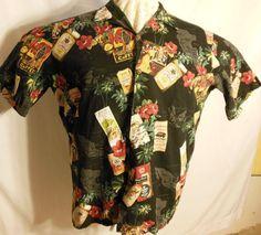 Hurrg Mens Hipster Short Sleeve Pattern Hawaiian Aloha Button Down Shirts