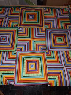 MSQC Quartered stripes flannel quilt squares