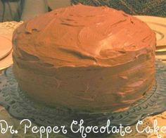 Dr. Pepper Chocolate Cake. Possibly for Terry's b-day cake..
