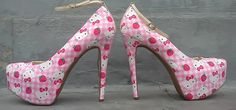 Hey, I found this really awesome Etsy listing at https://www.etsy.com/listing/151593258/pumps-size-11-handmade-with-hello-kitty