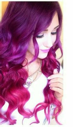 Hot pink and purple ombre #prettyhair