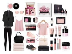 Black and Pink outfite by nabilahzahra on Polyvore featuring polyvore, fashion, style, Topshop, MANGO, Gucci, adidas Originals, adidas, CHARLES  KEITH, Hermès, Daniel Wellington, Casetify, Givenchy, NARS Cosmetics, MAC Cosmetics, Yves Saint Laurent, Oliver Gal Artist Co., Nomess, Christy and clothing