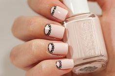 31 Day Challenge 2014: Day 11, Polka Dots #31DC2014 Essie Romper Room lace dotticure