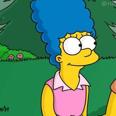 Couple Simpsons Homer e Marge Cartoon Profile Pictures, Matching Profile Pictures, Cartoon Pics, Homer And Marge, Simpsons Drawings, Matching Wallpaper, Couple Wallpaper, Sketchbook Inspiration, Photo Wall Collage