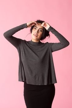 Crashville Swing Top in Charcoal