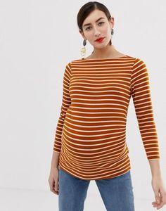 82789aae5f090 ASOS DESIGN Maternity slouchy long sleeve t-shirt in stripe | ASOS Asos  Maternity,