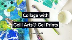 Collage with Gelli Arts® Gel Prints by Marsha Valk - YouTube Collage Video, Collage Art, Colouring Techniques, Art Techniques, Printing On Tissue Paper, Gel Press, Gelli Plate Printing, Gelli Arts, Beautiful Collage