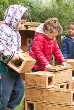 Children exercise physical and social skills as they build with Outlast blocks. Children Exercise, Exercise For Kids, Outdoor Play, Social Skills