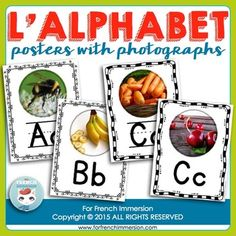 L'alphabet - affichesThese printable alphabet posters will help you teach the letters of the alphabet to your students.Print and laminate the posters, then hang them on the wall to be used as a reference tool. They'll also make your classroom look polished and put together.There's one poster for each of the letters and two posters for the letters C and G (hard and soft beginning sounds).There are two border options and letters with and without primary writing lines.