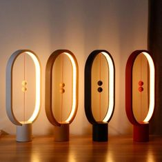 Aimkeeg Creative Smart Balance Lamp LED Table Night Light USB Powered Magnetic Switch Lamp Home Decor Bedroom Office Night Lamp-in LED Night Lights from Lights & Lighting on AliExpress Small Lamps, Unique Lamps, Unique Art, Led Night Light, Light Up, Night Lights, Moon Lights, White Light, Traditional Lamps
