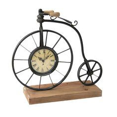 Metal Clock Bicycle - 14 in.