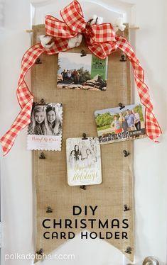 DIY Christmas Card Holder Tutorial.... no sew!