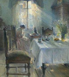 Woman Sewing - Bertha Wegmann 1891