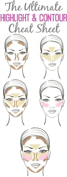 Learn how to highlight and contour for the flawless face.