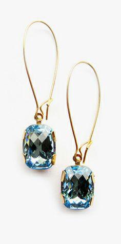 Aqua bling // earrings