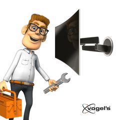 Tip from Larry: Wherever you place your Curved TV turnable Wall Mounts will help you to sit centered in front of the TV so you get the best Curved experience. More info at http://www.vogels.com/curved-tv-wall-mount