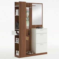 Rosano Plumtree/White Hallway Stand Shoe Storage Cabinet – Shoe Storage, Shoe Ca… Hallway Furniture, Dressing Table Design, Furniture, Wardrobe Storage Cabinet, Dresser Furniture, Shoe Storage Cabinet, Small Home Offices, Storage, Kids Wardrobe Storage