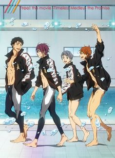 The Free! Timeless Medley Promises BluRay/DVD cover art has been revealed as well as the various contents that can be found inside the DVD! Free Eternal Summer, Free Summer, Blue Exorcist, Anime Guys, Manga Anime, Sailor Moon, Home Entertainment, Otaku, Guns N' Roses