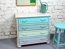 Tutorial - alte Möbel/Kommode aus Eiche streichen I Shabby Chic I ...