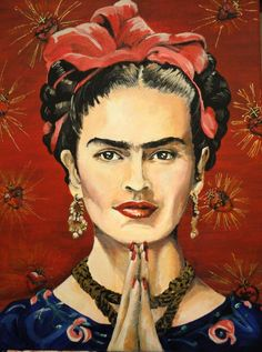 A Joyful Exit, A Portrait of Frida Kahlo In Acryli by noveltydoll.deviantart.com    via http://fav.me/d56bw3v