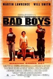 Bad Boys [R] 118 mins. Starring: Martin Lawrence, Will Smith, Tea Leoni, Tchéky Karyo, Theresa Randle and Joe Pantoliano Bad Boys Movie, Bad Boys 1995, Movies For Boys, Great Movies, Funny Movies, 90s Movies, Movie Info, See Movie, Movie List