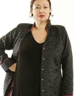 Plus Size Designer Mandarin Jacket Silk Jacquard Black   #PeggyLutzPlus #PlusSize #plussizestyle  #plussizeclothing  #plussizefashion  #womenstyle #womanstyle #womanfashion #holidaysale  #holidayfashion #holidaystyle #winterstyle #winterfashion #couture #madetoorder #motherofgroom #style #shopthelook #ShopStyle #fashionstyle #plusstyle #plusstyles