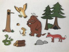 Gruffalo Felt Story! Flannel Board - Speech & Language Therapy - Children's Gift - Toddler Toy by KidmunicationFun on Etsy