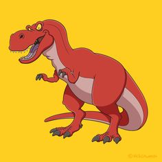 A cartoon of the tyrant lizard king - my Tyrannosaurus Rex!
