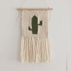 baby cactus / hand woven wall hanging by TheLittleAvocado on Etsy https://www.etsy.com/listing/269261643/baby-cactus-hand-woven-wall-hanging