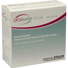 OCUSALIN 5 prozent UD Augentropfen:   Packungsinhalt: 20X0.5 ml Augentropfen PZN: 09332382 Hersteller: PHARMA STULLN GmbH Preis: 10,98…
