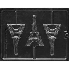 Eiffel Tower Candy Molds for chocolate cupcake decorations