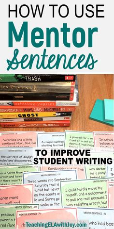 Mentor sentences are great models for students to improve and expand sentence skills! Find ideas on how to teach with mentor sentences and challenge your students to create strong sentences with varied structures. Improve Writing Skills, Writing Lessons, Teaching Writing, Writing Activities, Writing Art, How To Teach Writing, Writing Ideas, Teaching Tools, Teaching Ideas