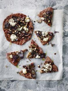 Rustik rødbedepizza